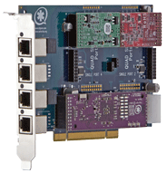 4 port modular analog PCI 3.3/5.0V card, and HW Echo Cancellation